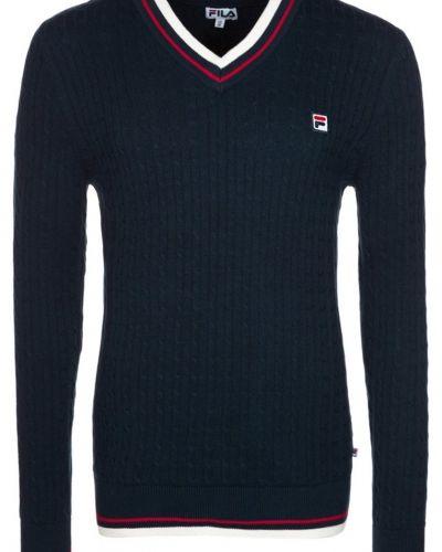 Fila PIERRE Stickad tröja Blått - Fila - Långärmade Träningströjor