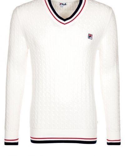 Fila PIERRE Stickad tröja Vitt - Fila - Långärmade Träningströjor
