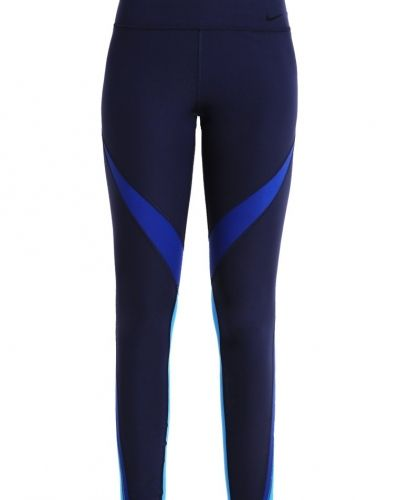 Power legend tights obsidian/deep royal blue/light photo blue/black Nike Performance träningstights till dam.