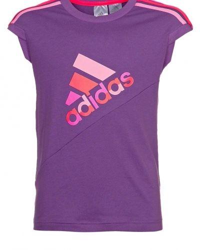 adidas Performance RE Q TEE Tshirt med tryck Lila från adidas Performance, Kortärmade träningströjor