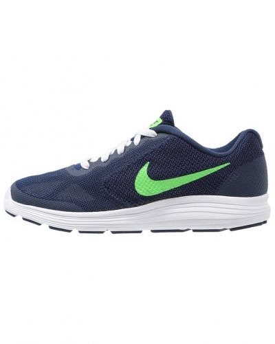 Revolution 3 löparskor dämpning deep royal blue/voltage green/white Nike Performance löparsko till mamma.