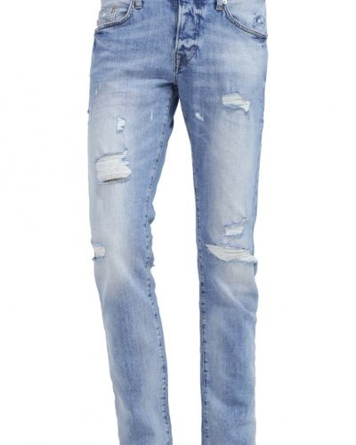 Rocco jeans slim fit blue denim comfort True Religion slim fit jeans till dam.