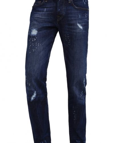 Rocco jeans slim fit blue denim destroyed True Religion slim fit jeans till dam.