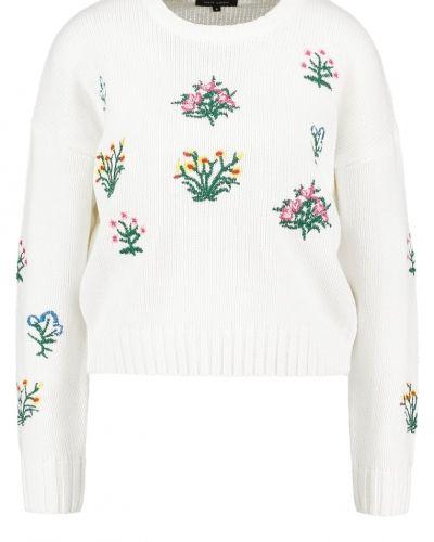 Stickad tröja cream från New Look