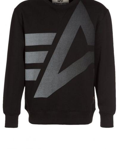 Till killar från Alpha Industries, en svart sweatshirts.