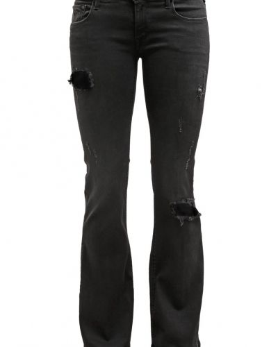 Replay Replay TEENA Flared jeans black destroyed