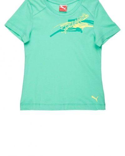 Puma Tshirt med tryck Grönt från Puma, Kortärmade träningströjor
