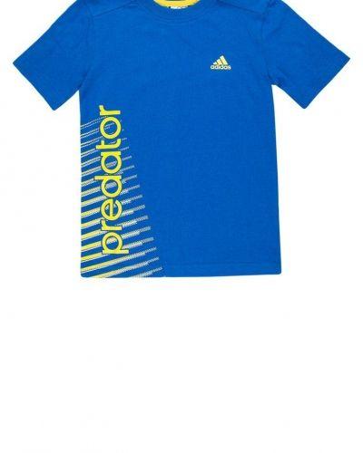 adidas Performance Tshirt med tryck Blått från adidas Performance, Kortärmade träningströjor