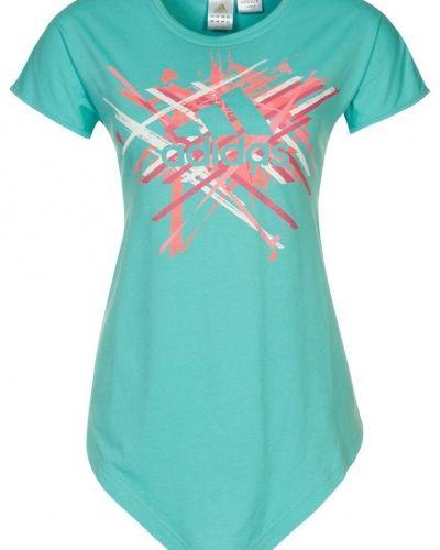adidas Performance Tshirt med tryck Turkos från adidas Performance, Kortärmade träningströjor