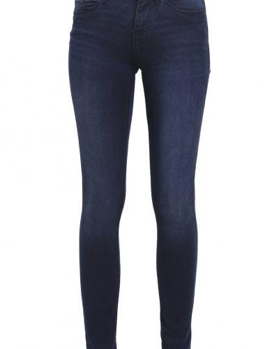 Vmseven jeans skinny fit medium blue denim Vero Moda slim fit jeans till dam.