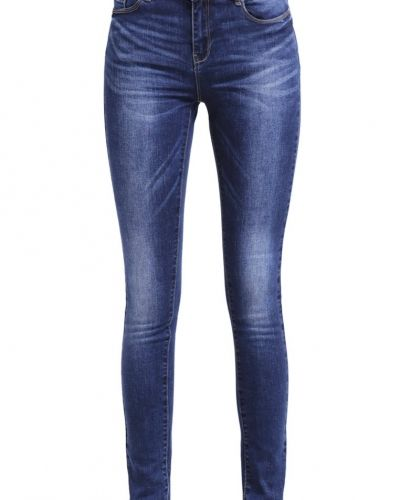 Vmseven jeans slim fit dark blue denim Vero Moda slim fit jeans till dam.