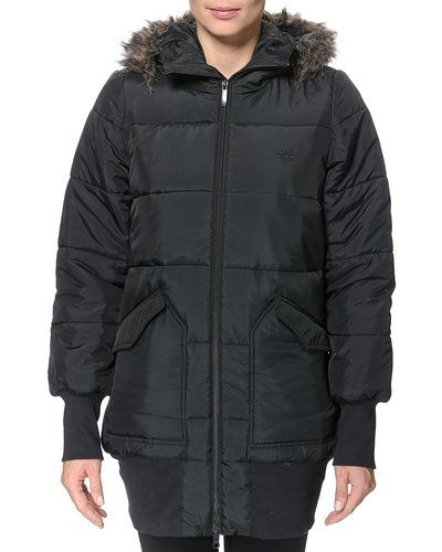 Metallicfärgad höst- och vinterjacka från Adidas Originals till dam.