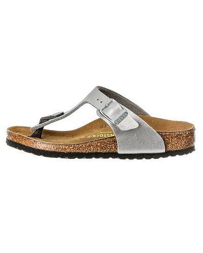 Silver sandal från Birkenstock till dam.