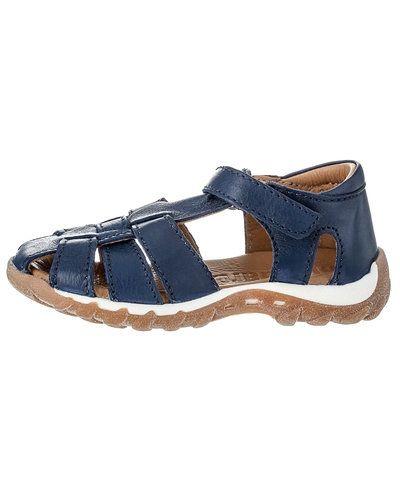 Till barn från Bisgaard, en blå sandal.