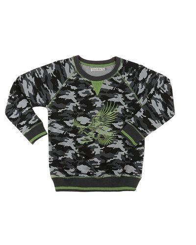 Till kille från BombiBitt, en grå sweatshirts.