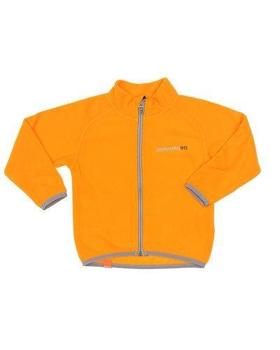 Till barn från Didriksons, en orange fleecejacka.