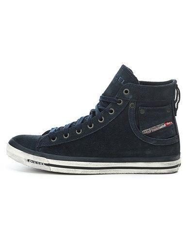 Blå höga sneakers från Diesel till herr.