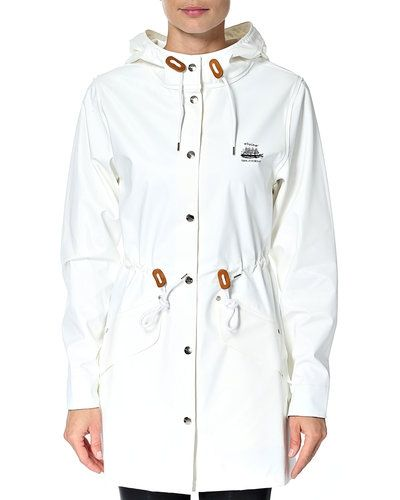vit regnjacka dam