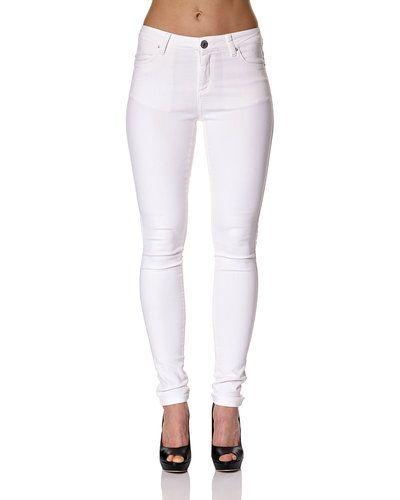 Vit blandade jeans från Fiveunits till dam.
