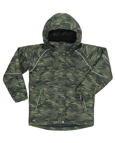 Till kille från Hummel Fashion, en grön höst- och vinterjacka.