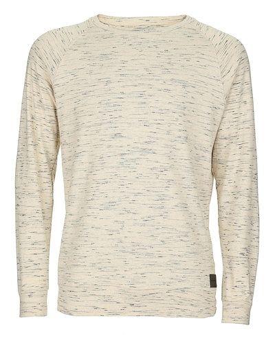 Vit sweatshirts från Just Junkies till killar.