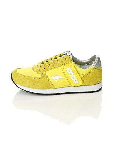 Gul sneakers från KangaROOS till dam.