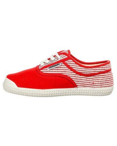 Röd sneakers från Kawasaki till dam.