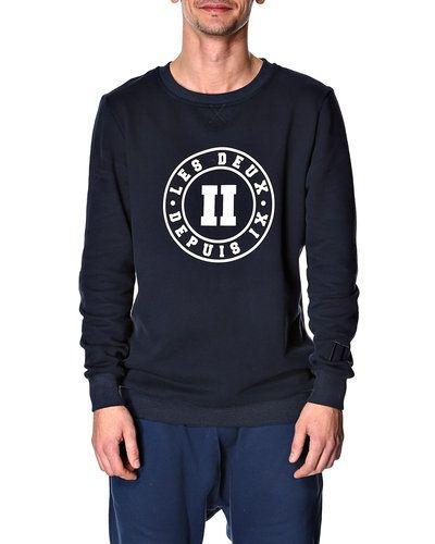 Les Deux 'Round print' sweatshirt Les Deux byxa till herr.