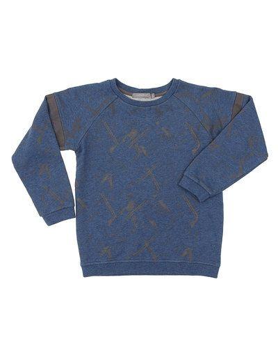 Till kille från Loudly, en blå sweatshirts.