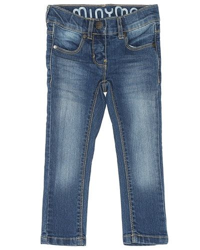 Blå blandade jeans från Minymo till barn.