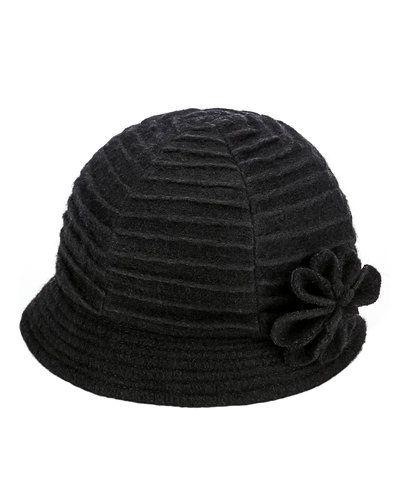 Svart hatt från MJM till dam.