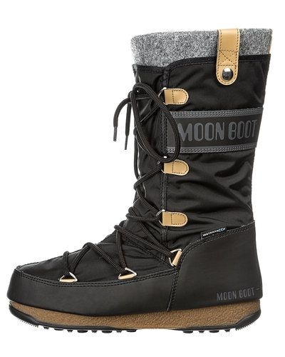 Svart vintersko från Moon Boot till dam.