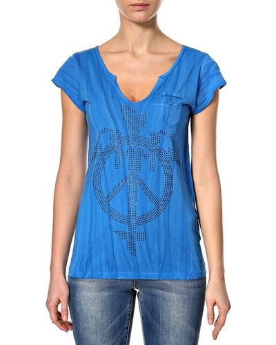 Blå t-shirts från Mos Mosh till dam.