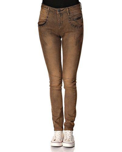Gul blandade jeans från Mos Mosh till dam.