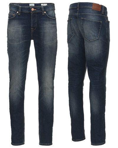 Blå slim fit jeans från Only & Sons till herr.