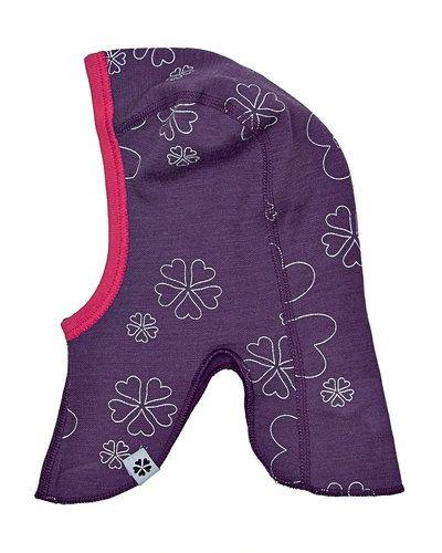 Till barn från Papfar, en lila mössa.