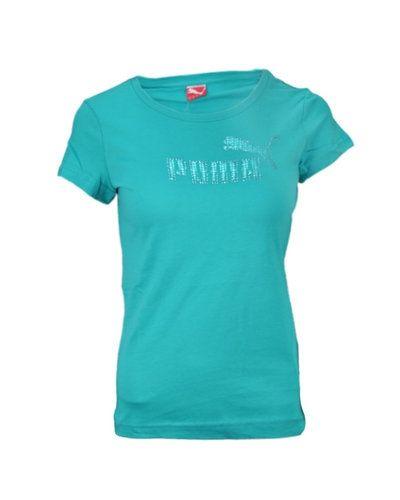 Turkos t-shirts från Puma till dam.