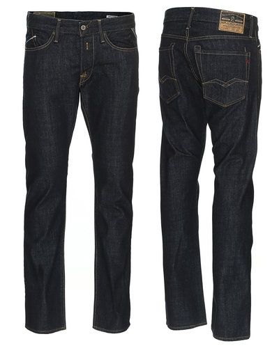 Blå regular jeans från Replay till herr.