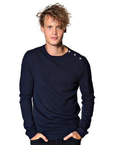 Samsøe Samsøe 'Jeppe' stickad tröja Samsøe & Samsøe mössa till herr.