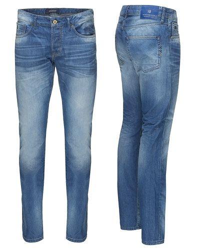 Till herr från Scotch & Soda, en blå blandade jeans.