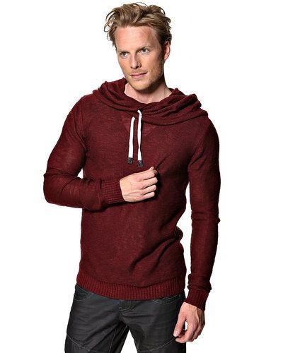 Solid 'Damon' stickad tröja m/huva - Solid - Mössor