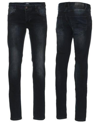 Blå slim fit jeans från Solid till herr.