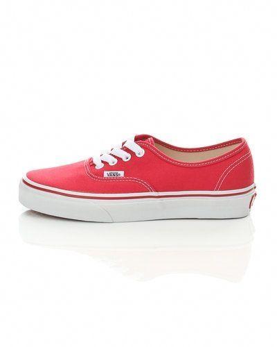 Röd sneakers från Vans till dam.