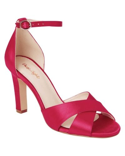 Phase Eight Ally Satin Block Heel Shoes