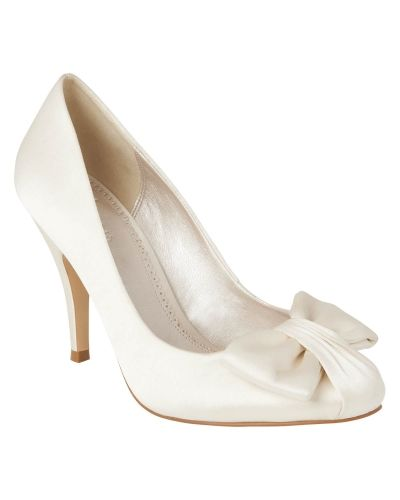 Phase Eight Bow Detail Satin Court Shoes