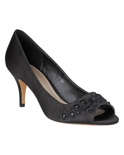 Finsko Cara Jewelled Peep Toe Shoes från Phase Eight