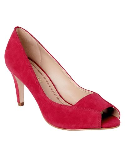 Phase Eight Carey Suede Square Peep Toe Shoes