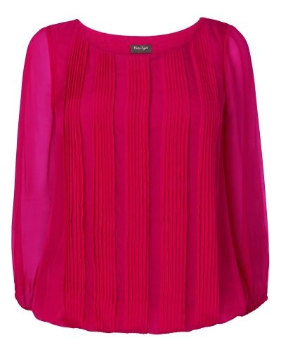 Phase Eight Eliza Pleated Silk Blouse