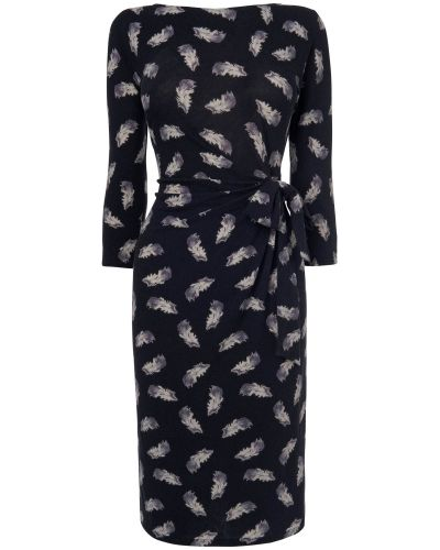 Phase Eight Fancy Feather Print Dress