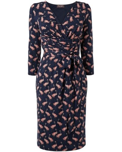 Phase Eight Flamingo Print Wrap Dress